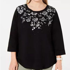 Karen Scott Plus Size Floral Top